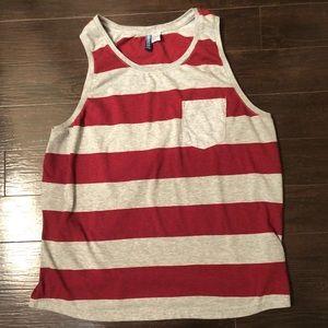 Men's Medium H&M Striped Tank Top